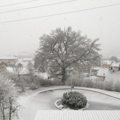 A snowy day in Givisiez