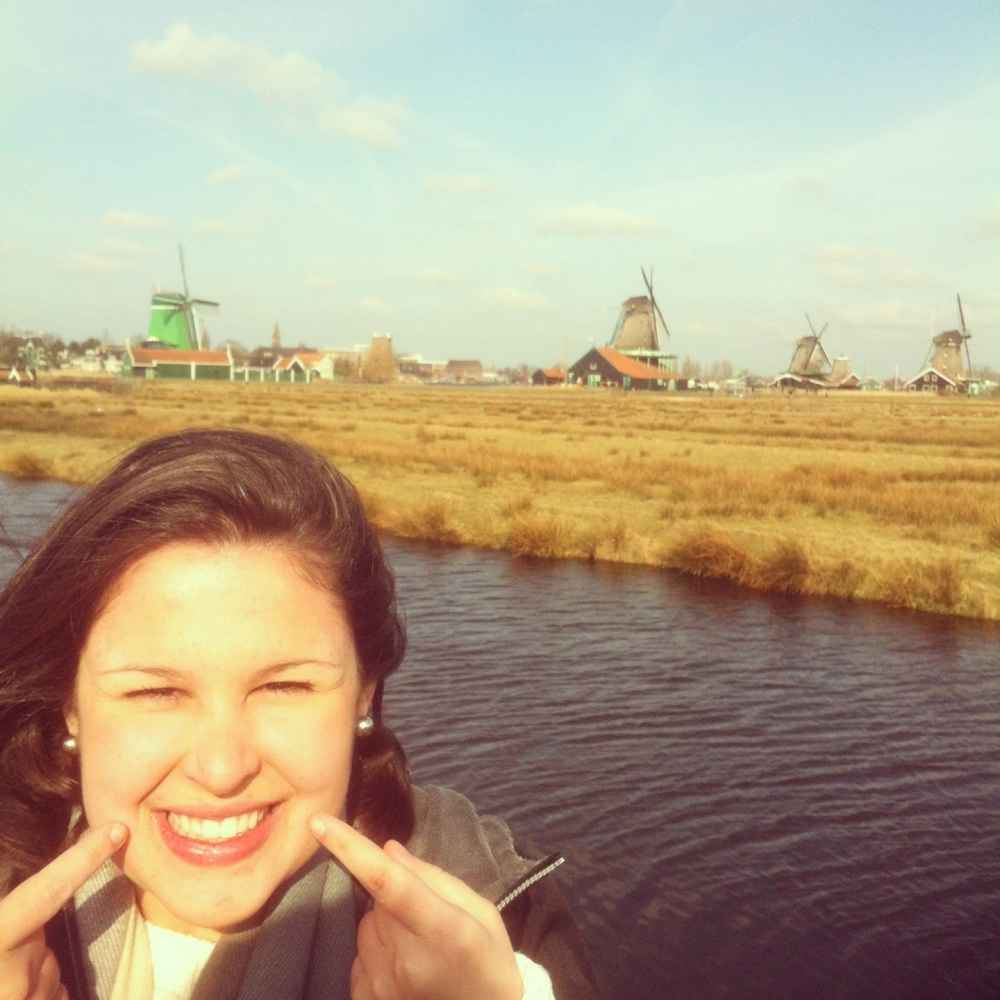 """You've seen this pic. But since I'm so happy, I'm posting it again.  """"Smiling in The Netherlands because I just got into Dental Hygiene school!"""""""
