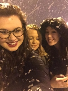Me and my hallmates having fun in the snow!