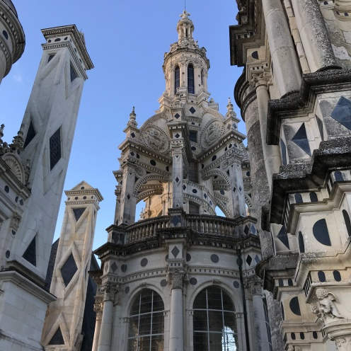 Closer look at the center spiral on the roof of Chambord