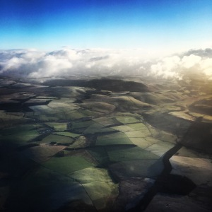 The view from my plane before landing in Edinburgh!