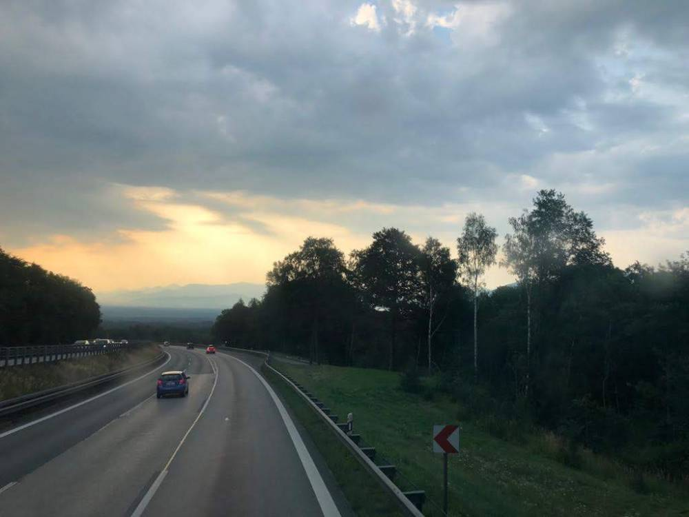 The view from the bus on the way to Austria!