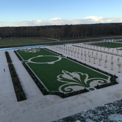 Part of the gardens at Chambord