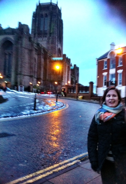 Here is the only picture I got in front of the WORLD'S largest Anglican Cathedral. 100% not posed. Thanks, Chase.